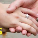 Couple's hands with ring