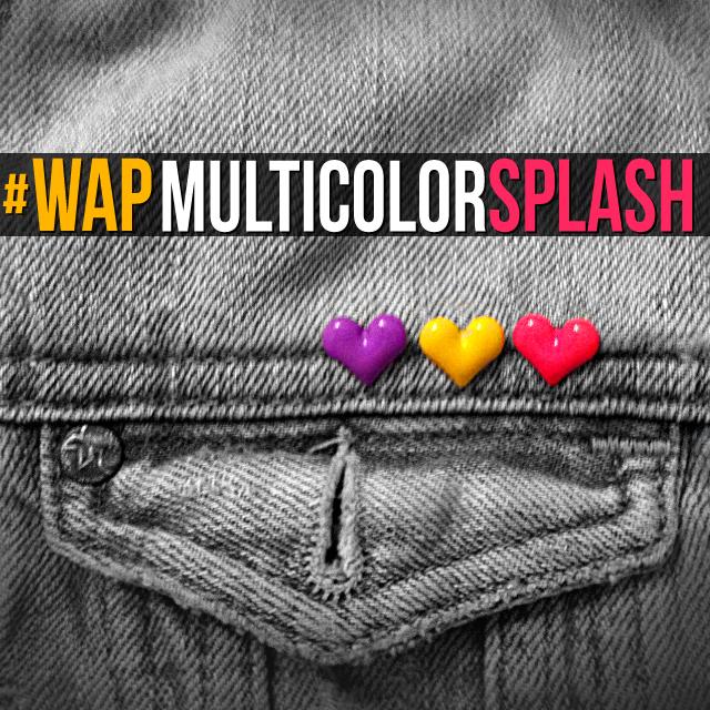 Jeans pocket photo edited with multicolor splash