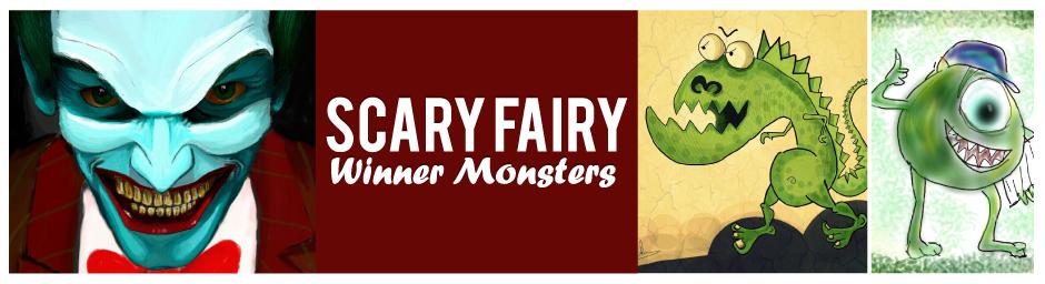 10 cutest monster drawing: Joker, Mike Wazowski