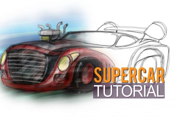 How to Sketch a Car: DCsupercar Tutorial