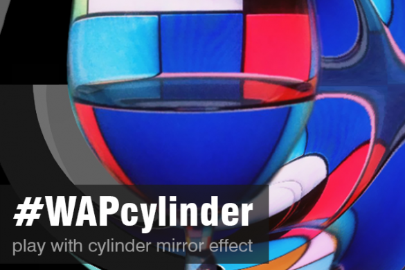 Create an Image and Enter the Cylinder Effect Weekend Art Project #WAPcylinder