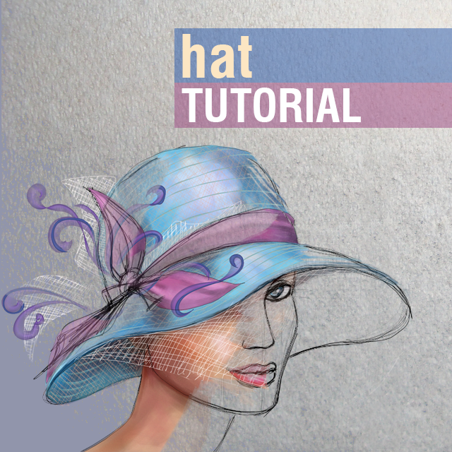 how to draw a fedora hat step by step