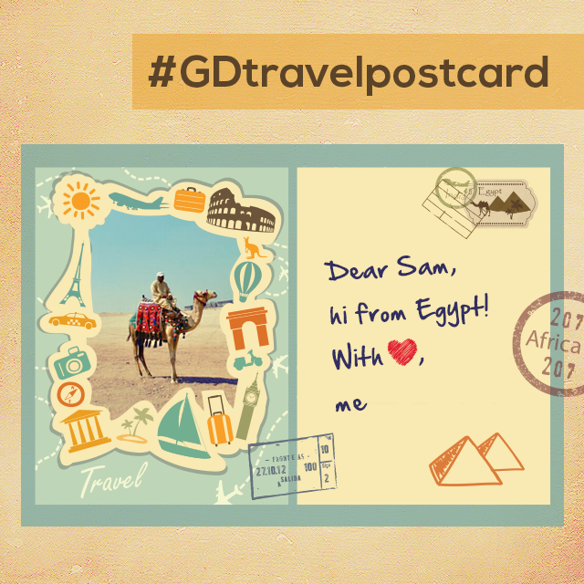 Travel postcard from Egypt by picsart