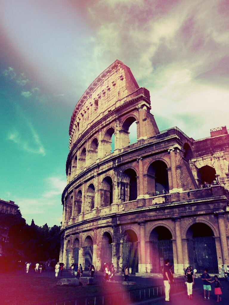 Photo of Colosseum edited with picsart