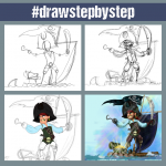Pirate drawing step by step tutorial