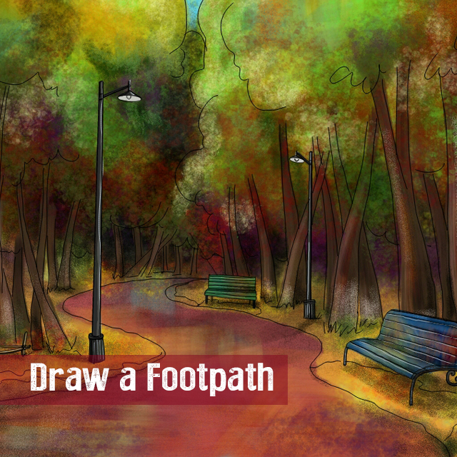 footpath drawing contest