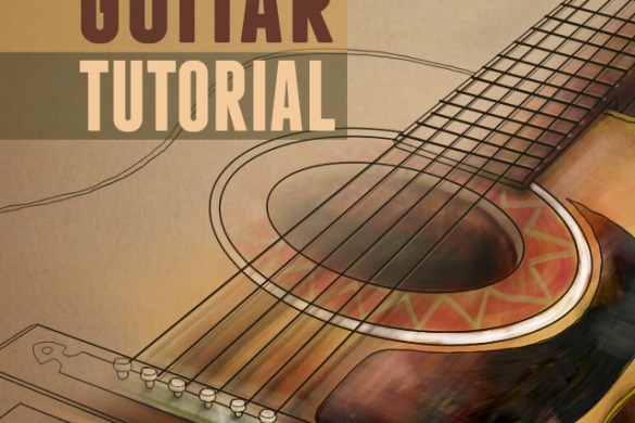 how to draw a guitar step by step