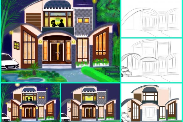 PicsArt User Tutorials From the House Drawing Challenge