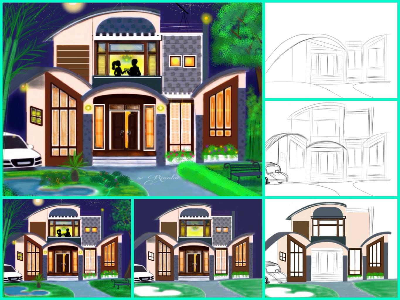 Tutorial on how to draw a house