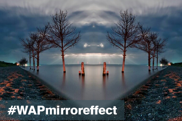 Use the Mirror Effect to Produce Wonderfully Distorted Art for the Weekend Art Project #WAPmirroreffect