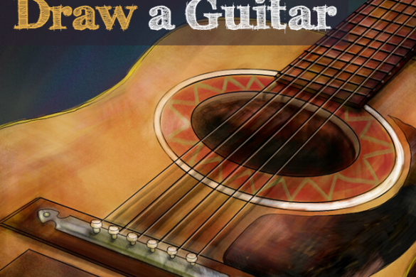 Strumming My Paint With His Fingers: The Guitar Drawing Challenge