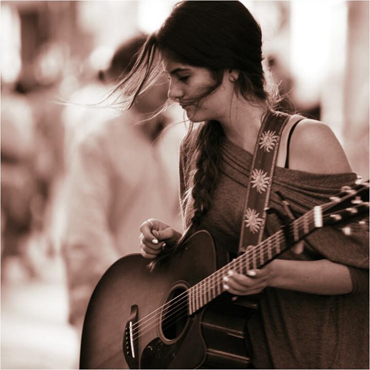 Girl with guitar by picsartist Kikabana