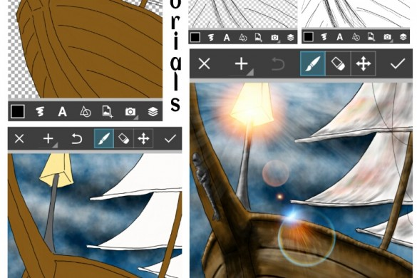 PicsArt User Tutorials From the Ship Drawing Challenge