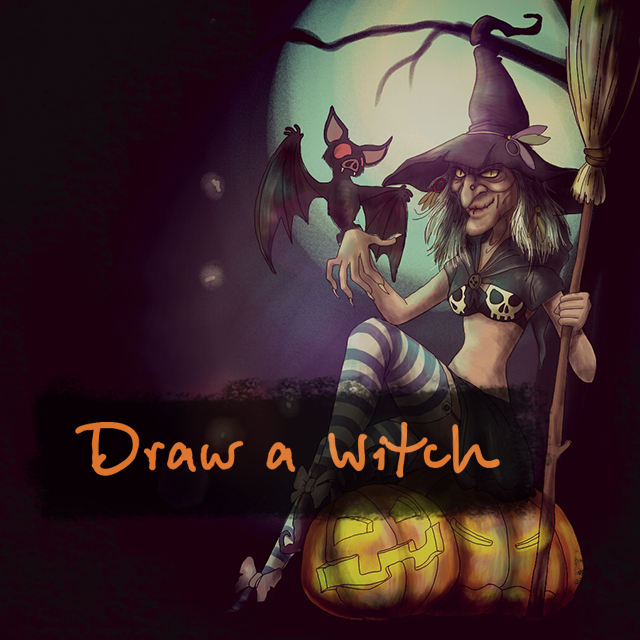 witch drawing contest