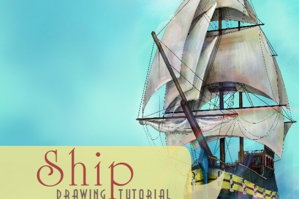 How To Draw a Ship: A Step-By-Step Drawing Tutorial