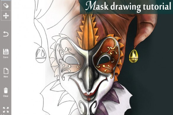 Drawing Tutorial: How to Draw a Mask Step by Step