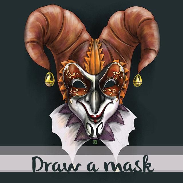 mask drawing
