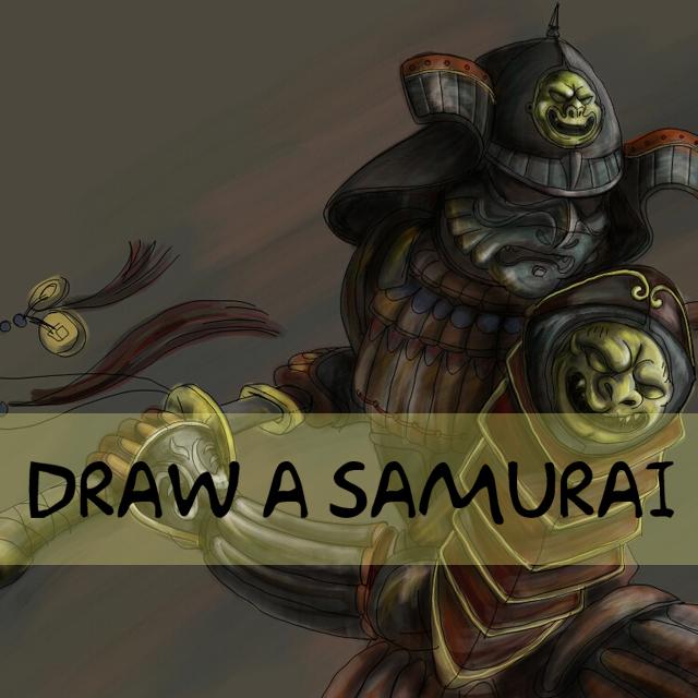 Samurai drawing contest