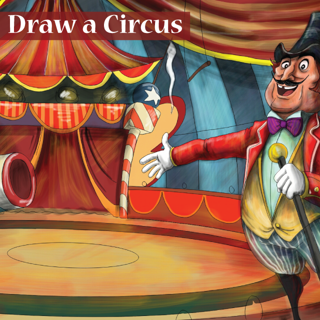 circus drawing art contest