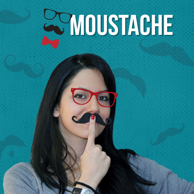 photo editing with moustache