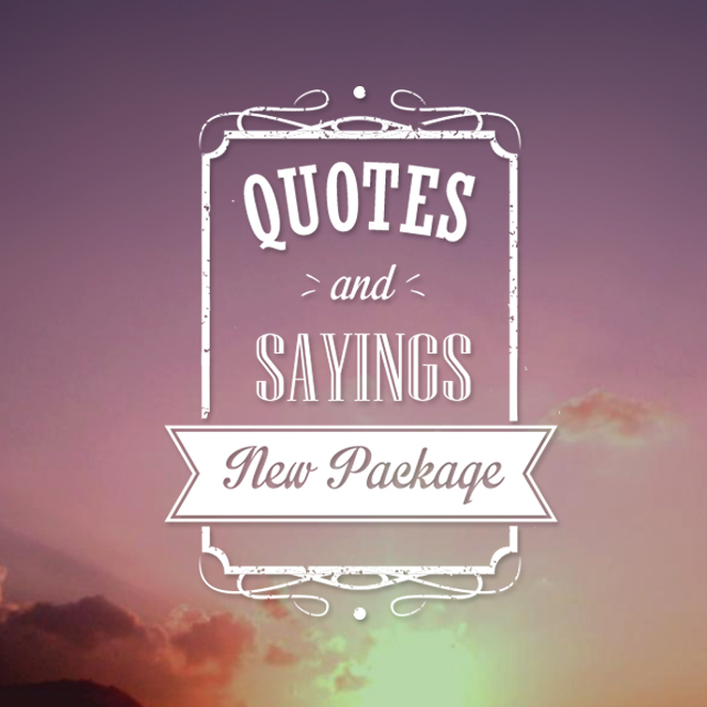 quotes and sayings package
