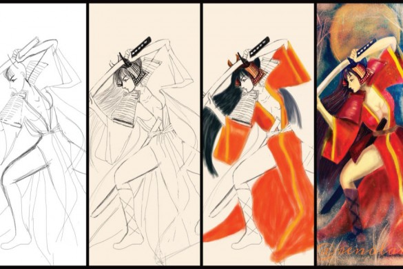 Step-by-Step Samurai Drawing Tutorials from PicsArt Users