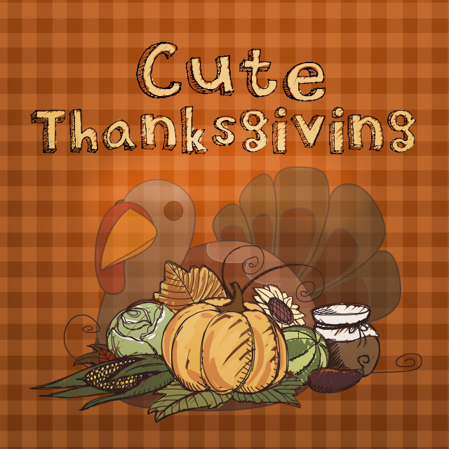 Cute clipart thanksgiving package