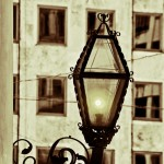 Old fashioned street lamp photo