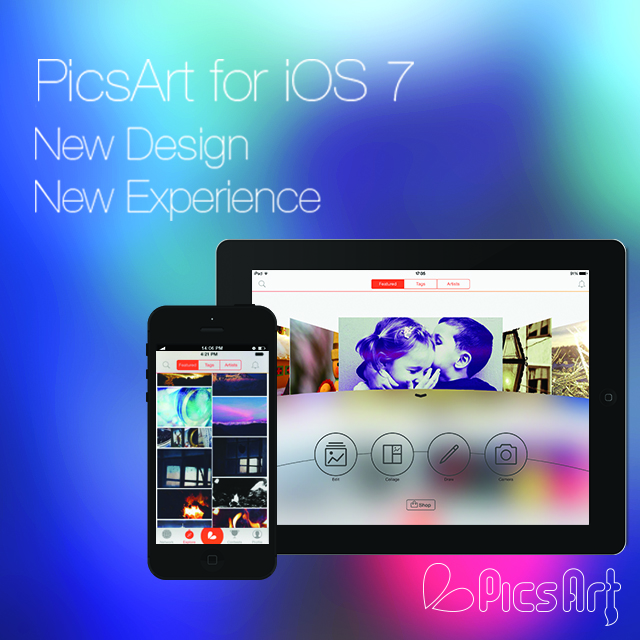 Picsart arrives on iOS 7 with new design