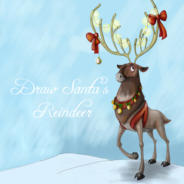 reindeer drawing art contest