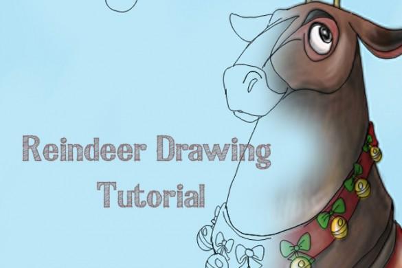How to Draw Santa's Reindeer