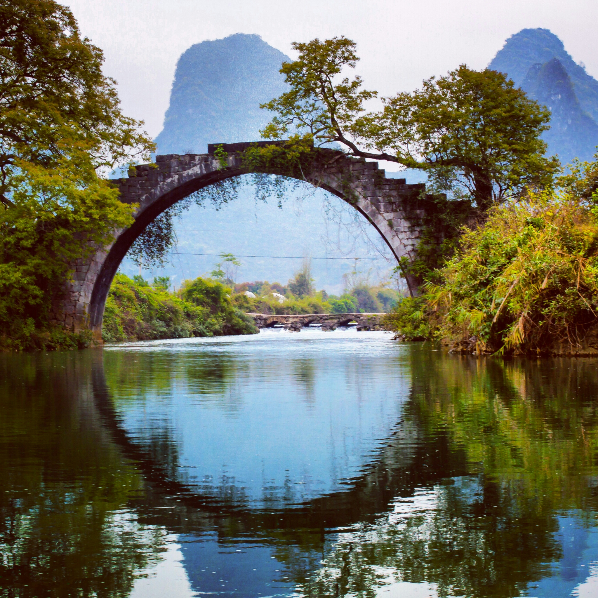 Amazing shot of bridge with reflection on the water