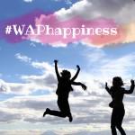 2 happy girls on sky background