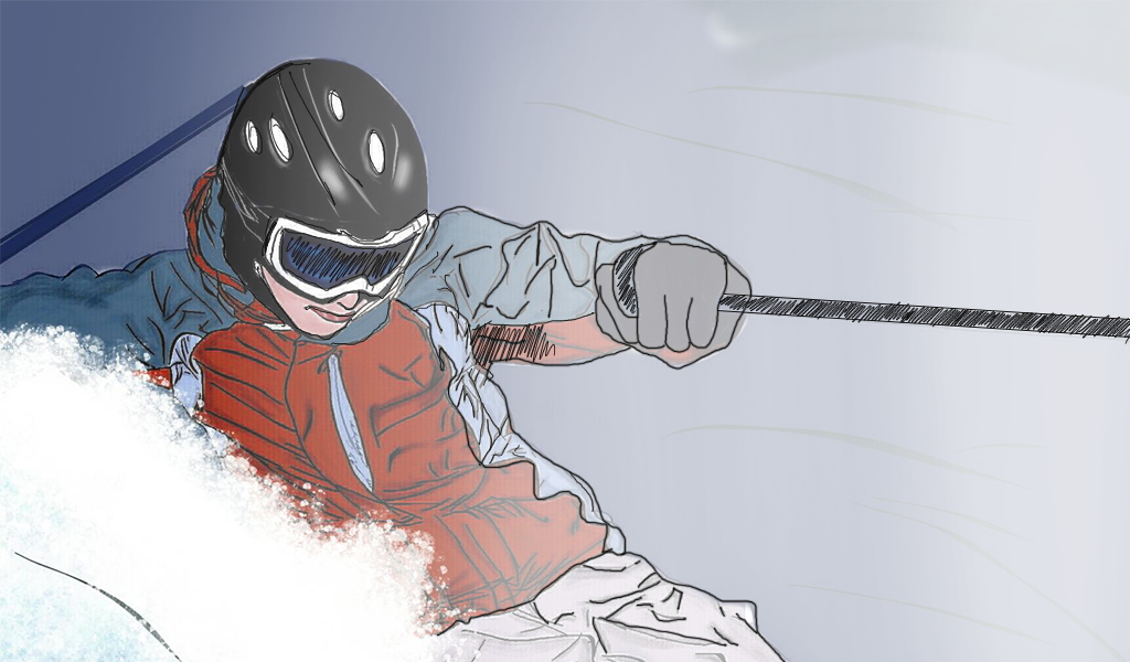 Tutorial for snowboarder drawing