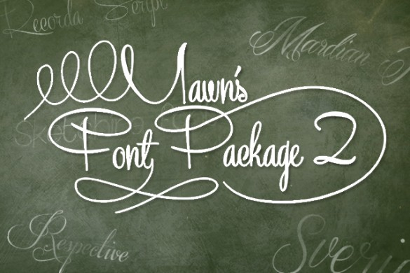 Download our Package of Awesome Fonts Designed by Mawn