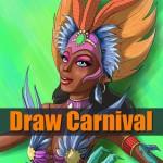 Brazilian carnival dancer drawing