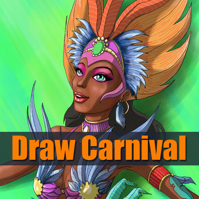 Brazilian carnival dancer drawing