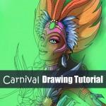 Carnival dancer drawing tutorial