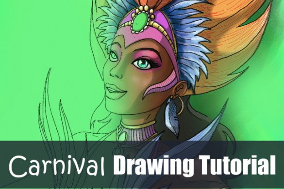 Step by Step Tutorial on How to Draw A Carnival Dancer