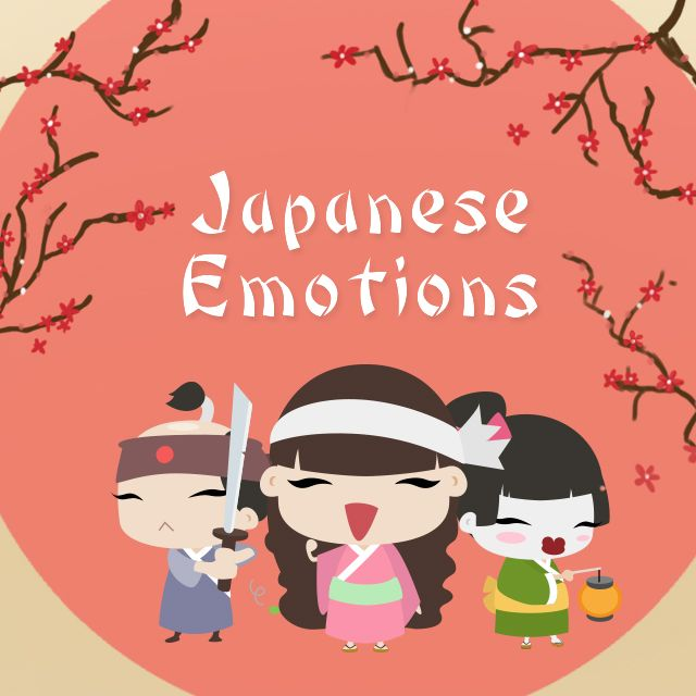 japanese emotion clipart package