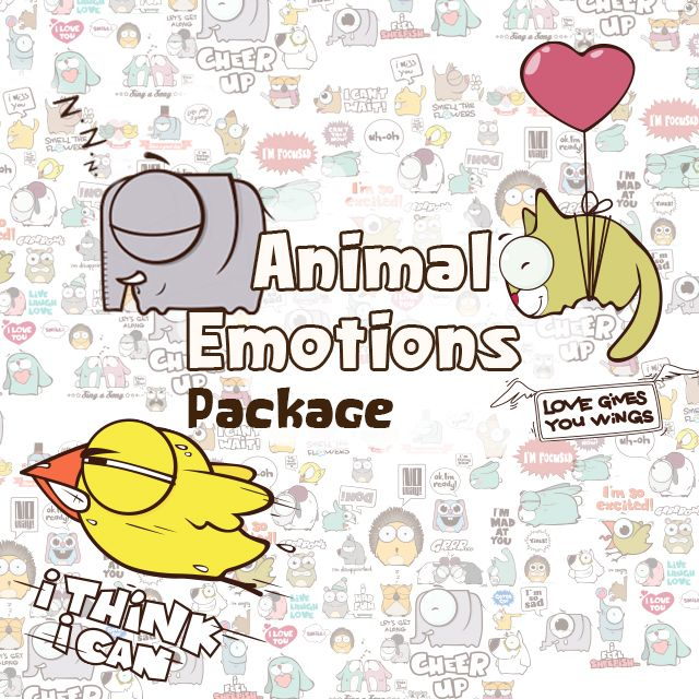 animal emotions clipart package