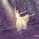 Ballet dancer dancing in the wood from picsart magazine