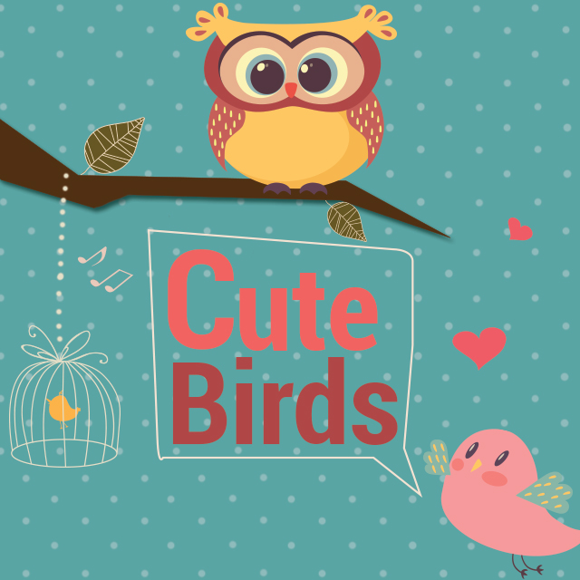 photo editing with cute birds cliparts