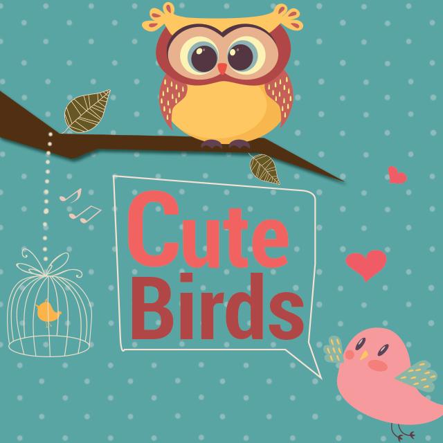 Cute birds clipart package