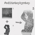 step by step edit of wood and girl photo mix