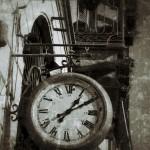 Retro clock photo edited with picsart