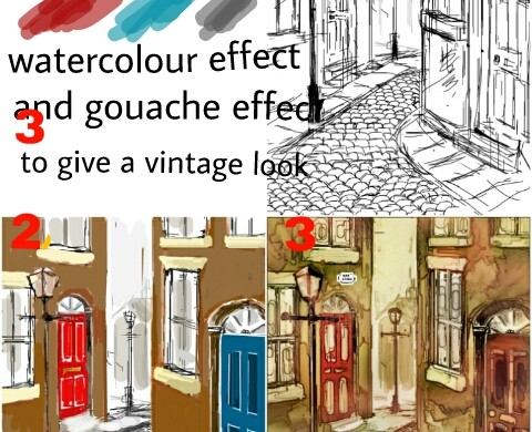 User Jackie Shares a Tutorial for his Cobble Stone Street Painting