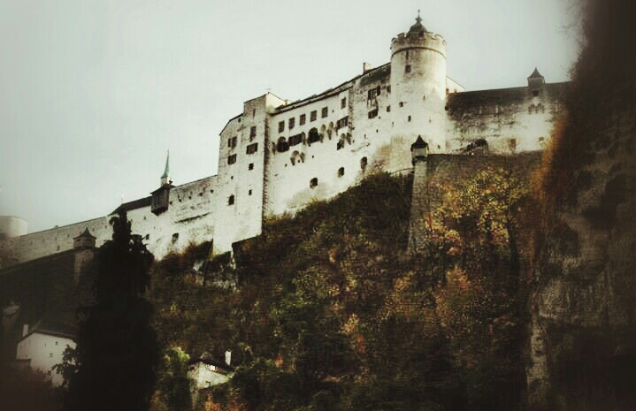 Photo of Hohensalzburg castle edited with picsart