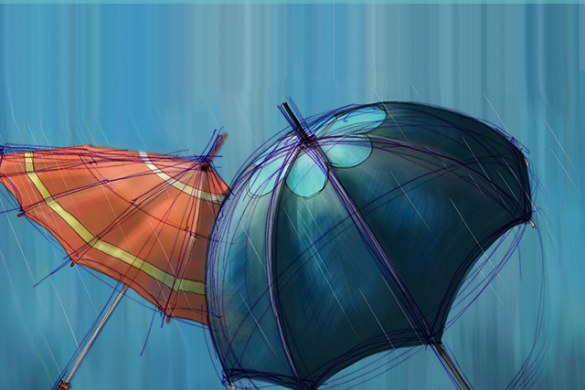 Step by Step Tutorial on How to Draw an Umbrella