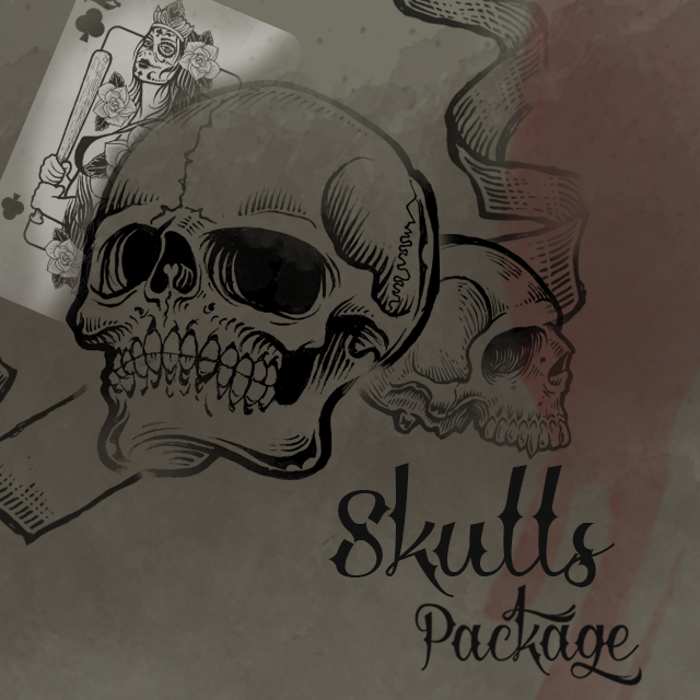 skulls clipart package